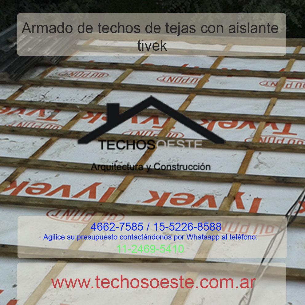 Armado de techos de tejas con aislante