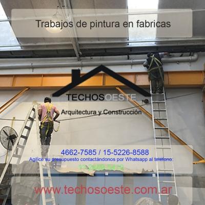 Trabajos de pintura en fabricas
