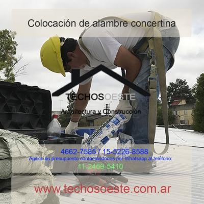 Colocación de alambre concertina