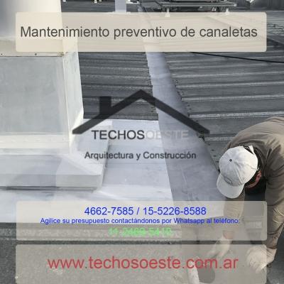 mantenimiento preventivo de canaletas